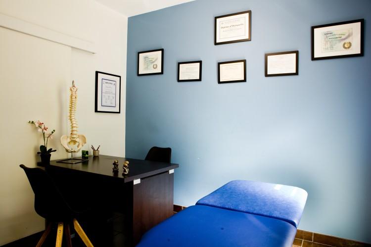 vue 2 de la salle d'ostéopathie